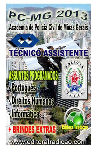 APOSTILA TÉCNICO ASSISTENTE PC MG 2013 PDF