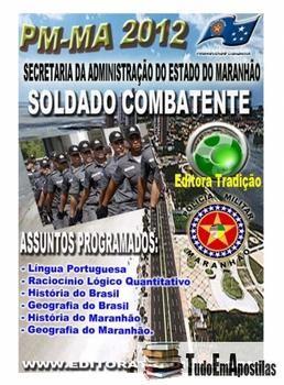 APOSTILA PM-MA 2012 - SOLDADO COMBATENTE R$17,90